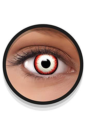 FXEYEZ Farbige Halloween Kontaktlinsen UNDEAD ZOMBIE, weich, 2 Stück (1 Paar), Ohne Sehstärke