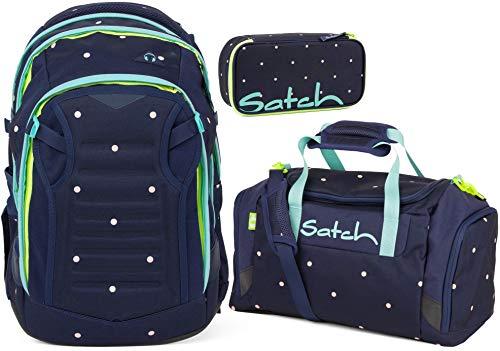 Satch Match Pretty Confetti 3er Set Schulrucksack, Sporttasche & Schlamperbox