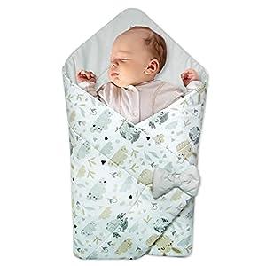 Saco de Dormir para bebé de - Manta de niño pequeño de Dormir, para durante todo el año, Saco reversible para envolver (Búhos - Algodón Gris)