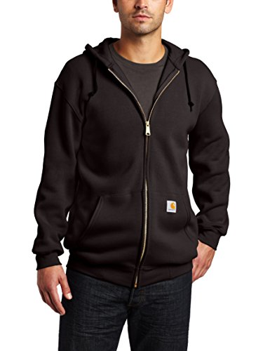 Carhartt Herren Midweight Zip-Front Hooded Hoody Sweatshirt Black M, Schwarz, Medium
