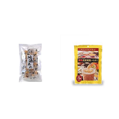[2点セット] 地酒あめ(15粒)・醗酵焙煎雑穀パウダー MISUKARU(ミスカル)(200g)