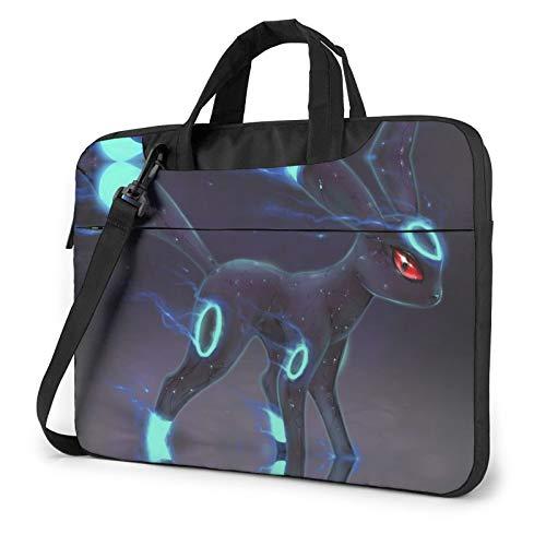 Poke-Mon Lucario 13 14 15.6 Inch Laptop Bag Shoulder Messenger Bag Adjustable Computer Shockproof Laptop Briefcase Air Pro Notebook Sleeve