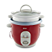 Oster 6-Cup Rice Cooker with Steamer, Red (004722-000-000) (Renewed)
