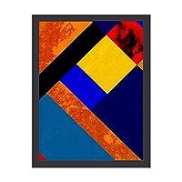 INOV 絵画 額入り 壁掛け アートフレーム 壁掛スタイル おしゃれなデザインプレゼント アートギフト 贈答 アートフレーム モンドリアン
