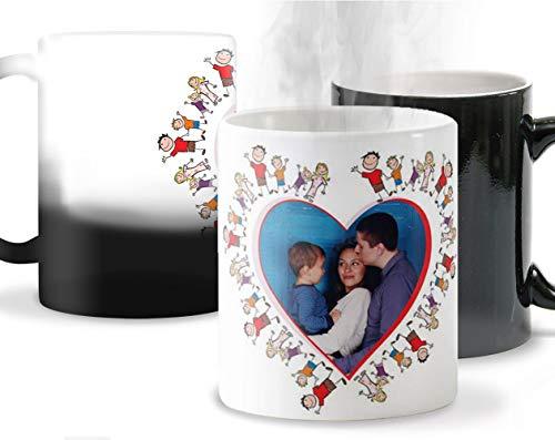 Getsingular Tazas mágicas Personalizadas con tu Foto o Nombres Ideales para Enamorados...