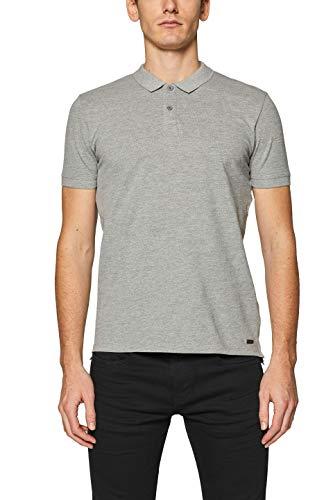 edc by ESPRIT Herren 019CC2K026 Poloshirt, 035/MEDIUM Grey, Large (Herstellergröße: L)