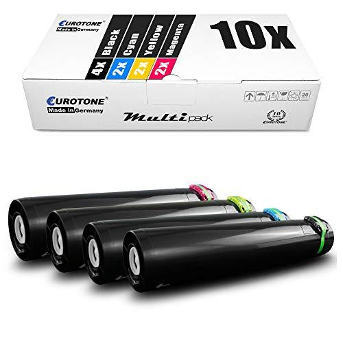 Eurotone - Juego de 10 tóner compatible con Lexmark C935DN C935DTN C935DTTN C935HDN C 935 Series sustituye a C930H2 CG KG MG YG