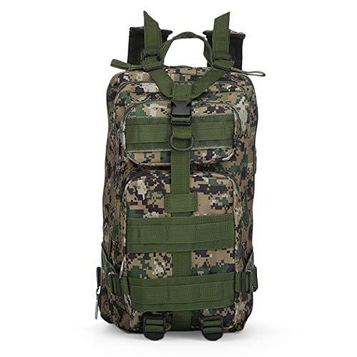 Mochila de caza 30L,Bolsa militar táctica 3P,Mochila de camuflaje ejército Swat, mochilas de viaje de senderismo, paquete de asalto, Hombre, Selva digital, as picture