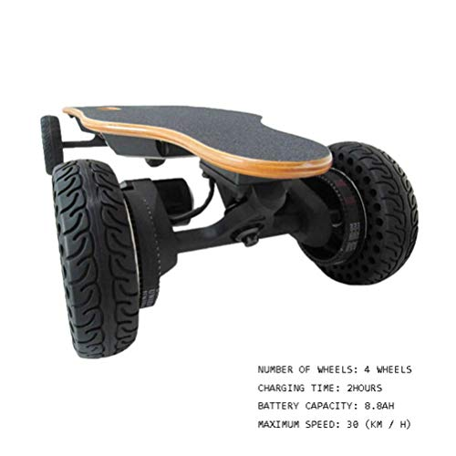 WXDP Patineta Cruiser Pro,Monopatín eléctrico Longboard para niños y Adolescentes, Motor de...