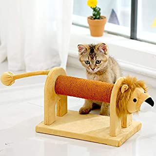 ADIA Sisal Lion Tree Scratcher with Toy for Cats (18.8 X 7 X 8.2in)