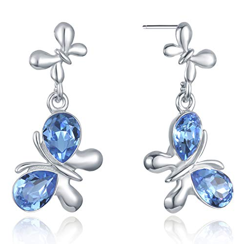 VOGUEA Damen - 925 Sterlingsilber Sterling-Silber 925 Markise Blue Kristall