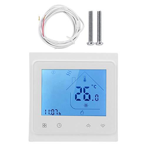 Termostato de Voz Inteligente WiFi de 95-240 V CA para Uso de calefacción eléctrica para Pantalla táctil LCD de Alexa, Temperatura del Controlador de Temperatura del termostato
