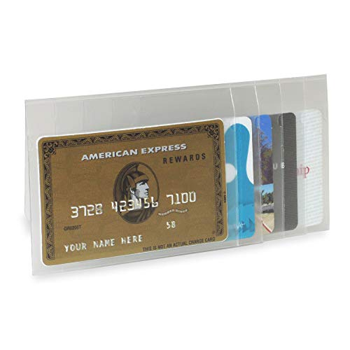"""Buxton Men's Insert for Checkbook Wallets, Clear, 5.75"""" x 2.875"""""""