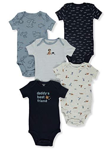 Bodies Carter's de manga curta para bebês meninos, pacote com 5 (Melhor amigo dos papais) (18 meses)