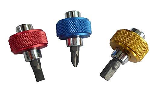 CON:P B20703 Set inserti/giraviti a manopole con adattotori 6 pezzi, Set di 6