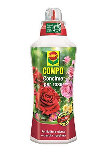 Compo Rosendünger im Topf und Garten für intensive Blüten und üppiges Wachstum, 1 Liter, 9x18,7 x 27 cm