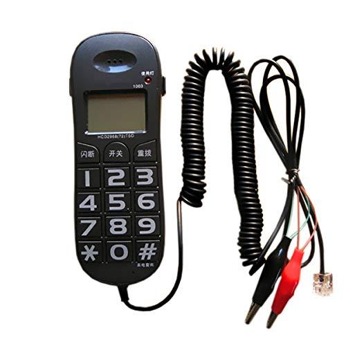 AXAXA Teléfono con Cable Línea Fija con Identificador De Llamadas, Flash, Remarial, Mini Bigones Bigonos Teléfono para Home Hotel- Blanco, Negro,Negro