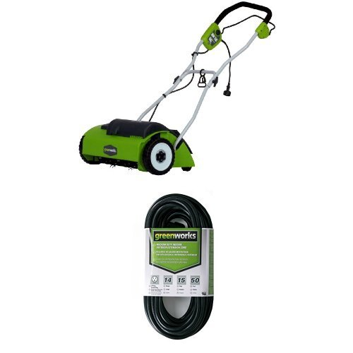 Greenworks 27022 10 Amp 14' Corded Dethatcher