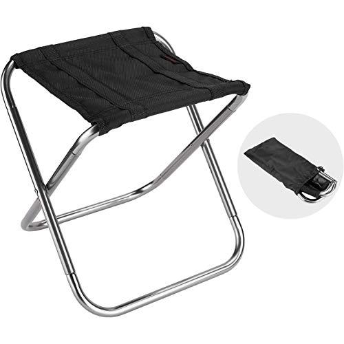 Mini Camp Hocker, Ultraleichter tragbarer klappbarer Campinghocker zum Angeln im Freien Wandern Rucksackreisen Reisende kleine Hocker, klappbare Stühle im Freien (11