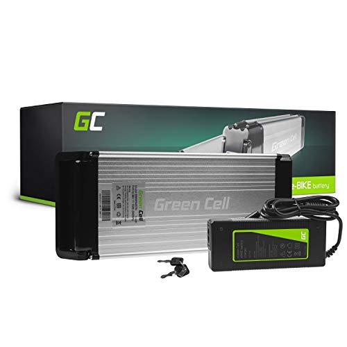 Green Cell® 36V 15Ah E-Bike Akku 540Wh Li-Ion Lithium-Ionen für Motor 250W Fahrradakku Pedelec Elektrofahrrad Rear Rack Gepäckträger-Akku Batterie mit Ladegerät