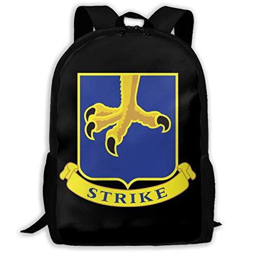 Mochilas Escolares Regimiento De Infantería De Paracaidistas Retro 502O del Ejército De EE. UU. Bolso De Escuela Clásico Mochila para Viaje Estampado Mochilas Escolares Juveniles por Deporte Regalos