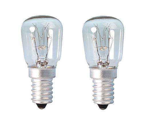 Himalaja-Salzlampe, Glühbirne, Zwerglampe, 15 W, E14Gewinde, für Kühlschrank, Ofen, Mikrowelle, Nähmaschine, 2 Stück