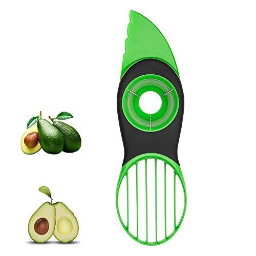 Avocado Slicer, 3 in 1 Avocado Cutter for Fruit and Vegetables Avocado Tool Avocado Slicer Avocado Knife - Dishwasher Safe (Green)