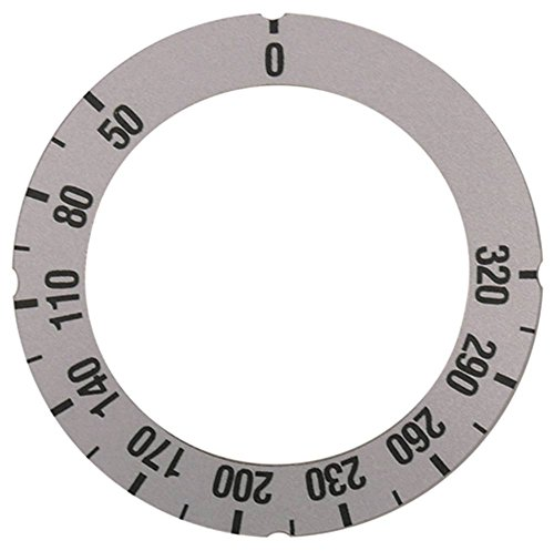 Knijpsymbool voor thermostaat, buiten, 63 mm, draaihoek 270 graden, zilver, binnenzijde 45,5 mm, max. Temperatuur 320 °C symbool thermostaat 50-320 °C