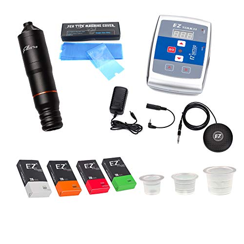 EZTAT2 Professional Tattoo Kit Filter Cartridge Machine Complete Set with Foot Pedal Switch Power...
