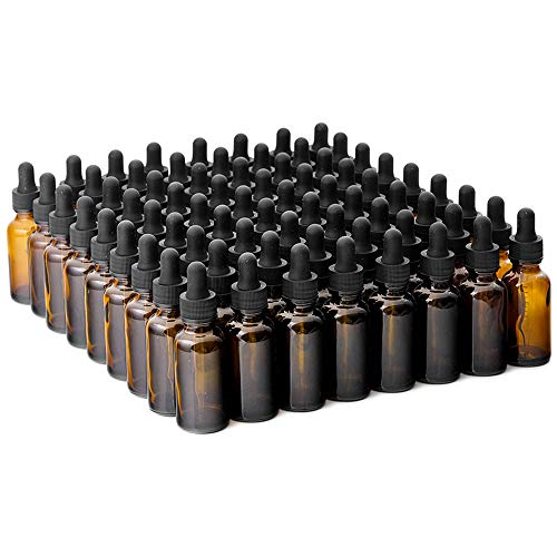 The Bottle Depot Bulk 72 Pack 1 oz Amber Glass Bottles With Dropper; Wholesale Quantity for Essential Oils, Serums with Pretty Amber Finish to Protect and Preserve Quality