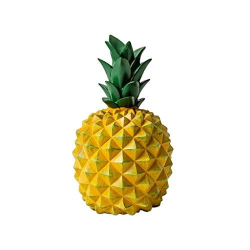 Sparschwein Harz Ananas Piggy Bank Hauptdekoration Bargeld-Münzen-Einsparung-Kasten-kreative Haus-Geld-Kaste Ananas Ornament-Einsparung-Kasten Spardose (Color : Yellow, Größe : A)