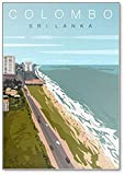 Colombo Sri-lanka Kühlschrankmagnet mit Strandlandschaft