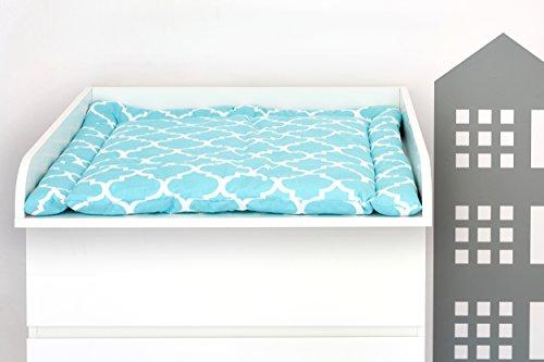KRFTKIDS Accesorio para cambiador, compatible con la cómoda Malm, color blanco liso