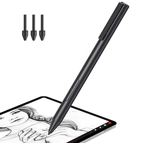 Hommie Lápiz para Huawei, Lápiz para Huawei Mediapad M5 Lite 10Pulgadas,M6 10.8Pulgadas,Huawei MateBook E 2019, C5 10.1Pulgadas, Lápiz con 2048 Sensibilidad a la Presión y 3 Puntas Repuestable, Negro