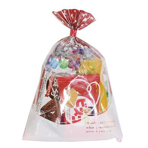 ハート柄袋 310円 グリコ栄養機能食品お菓子詰め合わせ 駄菓子 袋詰め おかしのマーチ