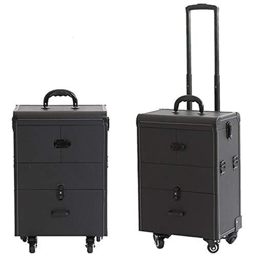 WANGXNCase Valise de Coiffure Professionnelle Haut De Gamme Nail Technician Trolley Case Cosmétiques Beauty Trolley Box Travel Makeup Case Storage Box