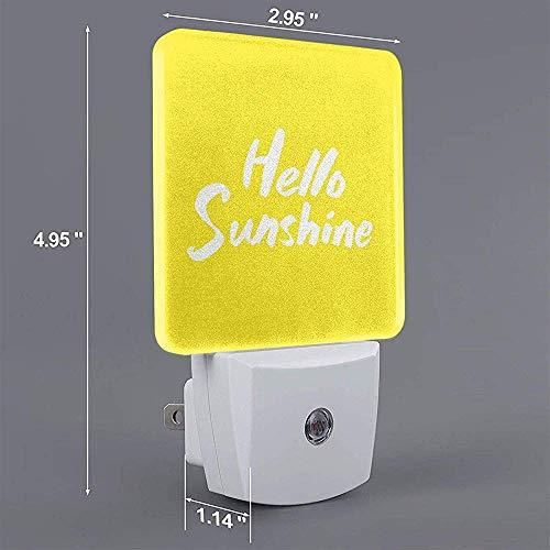 Goodlooking Hello Sunshine Print Plug-In Lamp with Dusk To Dawn Sensor Auto On/Off Night Light, Nightlight