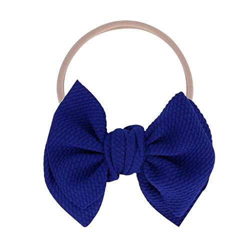 DAIFINEY Scrunchies,Haargummis Elastische Haarbänder Baby Haarschmuck im täglichen Leben Geeignet für Verschiedene Haar Verschiedene Typen Blau/Dark Blue
