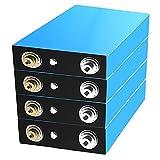 Baterías Lifepo4 Grado A 3,2 V 150AH 4 Piezas, Fuente Alimentación Batería Fosfato Hierro Y Litio Barco, Vehículo Recreativo, Carro Golf, Sistema Solar,UPS, Etc. (Color : 4Pcs, Tamaño : 3.2V 150ah)