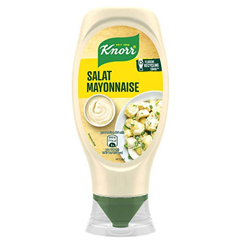 Knorr Salat Mayonnaise ideal zum Verfeinern Flasche, 8er Pack (8 x 430 ml)