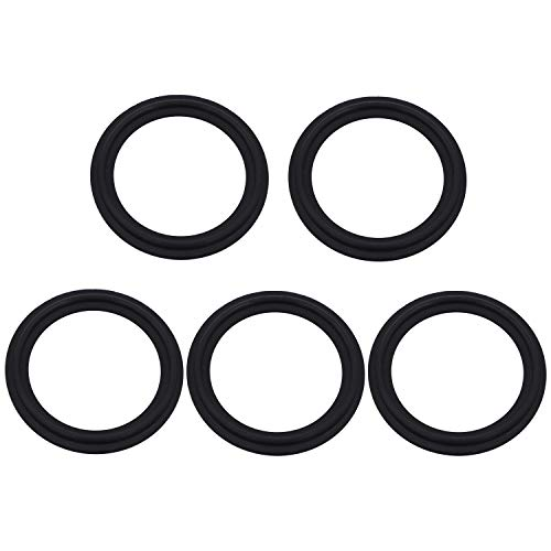 DERNORD 2 Inch FKM Rubber Gasket Tri-clamp O-Ring Fits Sanitary Tri-Clover Type Ferrule (Pack of 5)