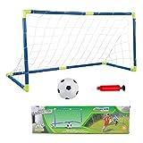 Fiaoen Niños portería de fútbol post red de fútbol juegos de deporte de los niños juego de juguete de entrenamiento de fútbol portería post red de fútbol juegos de deporte juego de práctica