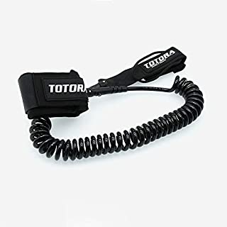 Zhaoyue Surfboard Leash, Coiled SUP Surf Leash, Paddle Board Leash with Quick Release Ankle Cuff and Wallet-Safety and Dur...