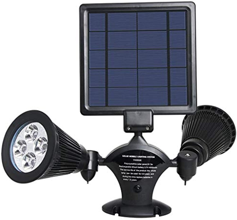 Solar Wandleuchte Outdoor 8LED Doppelscheinwerfer Intelligente Lichtsteuerung 360 ° Rasen Garten Wandleuchte