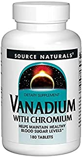 Source Naturals Vanadium with Chromium, 180 Tablets (2 Pack)
