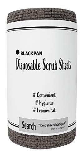 BLACKPAN Scrub | Disposable Scrub Sheets | Paper Towel Format | Antimicrobial | Non-Scratch | Cleaning Supplies | Dishwashing | Sponges Kitchen | Scouring Pads | Kitchen Cloths (1 Roll)