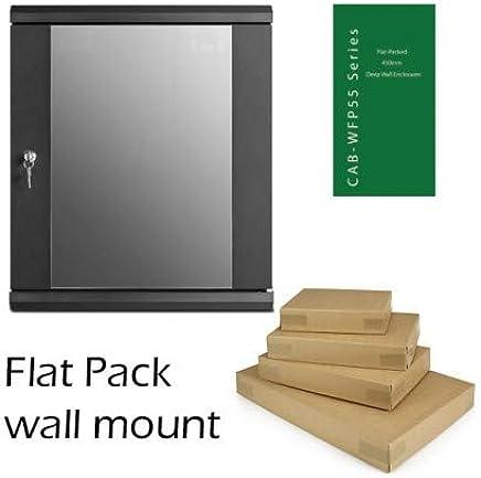 6u 450mm Deep Flat Pack Wall Mount Network Data Comms Rack Cabinet 6u 450mm Deep Flat Pack Wall Mount Network Data Comms Rack Cabinet CAB-WFP55-6U450 450mm Negro Soporte de Pared para Pantalla Plana