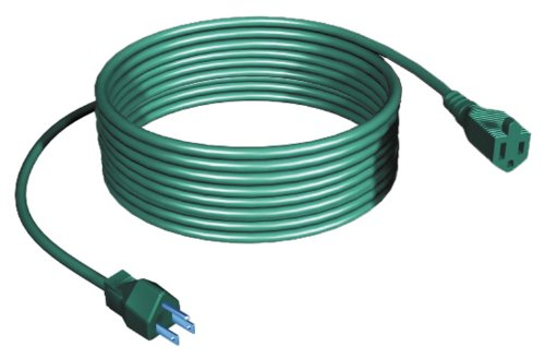 Westinghouse 28289 15-Feet Outdoor Single Outlet Power Cord, Green