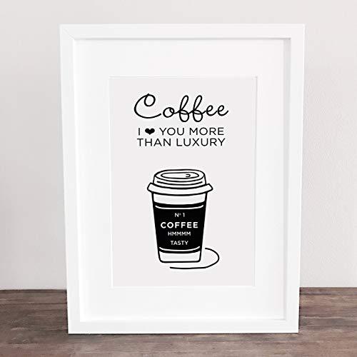 Poster, Wanddeko, Kunstdruck, Bild, Liebe, Kaffee,