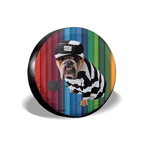 JONINOT Cubierta de neumático de Repuesto Disfraz de Perro Vestido de Rayas para Mascotas Trailer de Cachorro RV SUV Cubiertas Universal